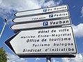 Bayonne sign in French Basque Gascon-Occitan.JPG