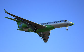 Bombardier Global Express - A Global BD-700 landing in Montreal after a test flight.
