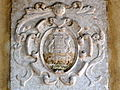 Beata Vergine del Soccorso, lapide Gerolamo Torelli, dettaglio stemma (Rovigo).JPG