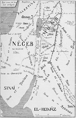 Negev Bedouin - 1908 map of the Bedouin tribes