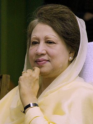 18 Party Alliance - Begum Khaleda Zia, former Bangladesh Prime Minister and chairperson of Bangladesh Nationalist Party and 18 Party Alliance