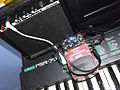 Behringer Bass Synthesizer BSY600 on Yamaha PSR-75.jpg