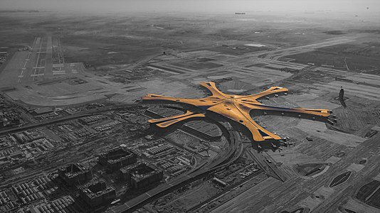 Aerial photographs of Beijing Daxing International Airport