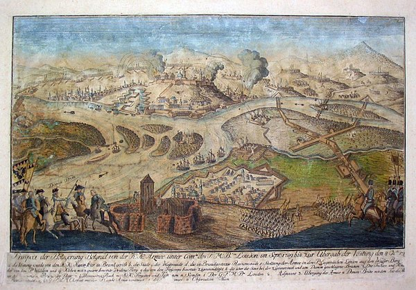 Siege of Belgrade in 1789 by the Habsburg army