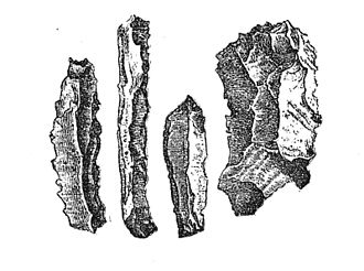 History of Belgium - Flint knives discovered in Belgian caves