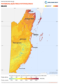 Belize PVOUT Photovoltaic-power-potential-map lang-ES GlobalSolarAtlas World-Bank-Esmap-Solargis.png