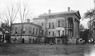 Belle Grove Plantation (Iberville Parish, Louisiana) - North side of the mansion in 1936