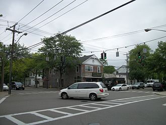 Bellport, New York - The Four Corners in Bellport