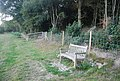 Bench on the edge of Scords Wood - geograph.org.uk - 1499239.jpg