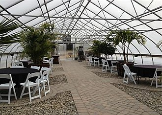 Beneduce Vineyards - Formerly used for growing plants for a garden center, this greenhouse is now used for hosting special events.