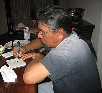 Absentee Shawnee Tribe of Indians - Absentee Shawnee enrolled member, artist Benjamin Harjo, Jr. sketching