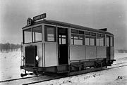 The only petrol driven tram of Stockholms Spårvägar on its line 19 in the 1920s