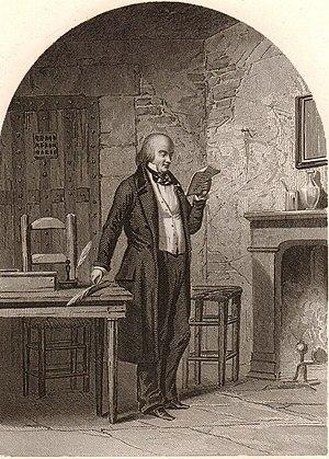 Pierre-Jean de Béranger - Béranger in La Force Prison, 1828.