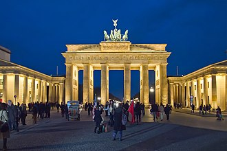 Brandenburg Gate - The Brandenburg Gate, viewed from the Pariser Platz on the East side
