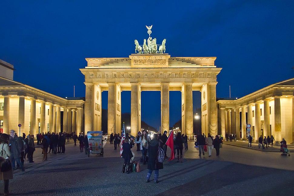 Berlin Brandenburger Tor Abend