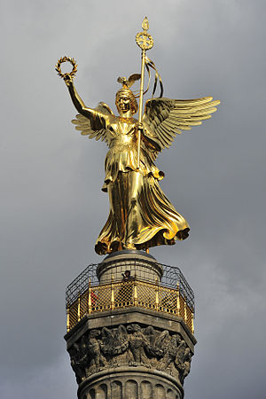 Berlin Victory Column - The statue of Victoria (cast by the Gladenbeck foundry, Berlin)