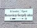 Berzeviczy Gergely utca, névtábla, 2019 Újpest.jpg