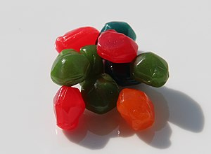 Fruit Gushers - Several fruit gushers on a plate