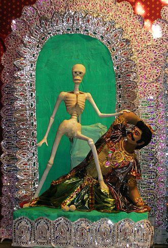 Preta - A preta depicted during Kali Puja.