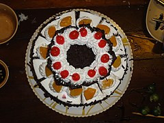 Chocolate With Mixed Fruit Birthday Cake