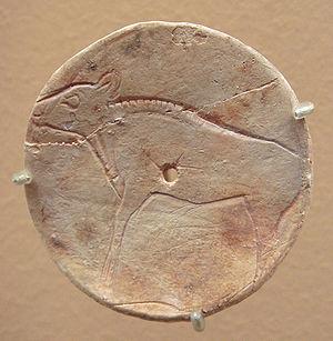 Bison - Magdalenian bison on plaque, 17,000–9,000 BC, Bédeilhac grottoe, Ariège