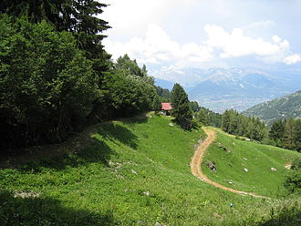 Nendaz - View of the Nendaz valley