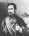Black and white portrait of emperor Meiji of Japan in 1888.jpg