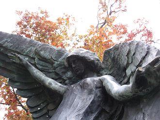 Oakland Cemetery (Iowa City, Iowa) - Black Angel, Oakland Cemetery, Iowa City.
