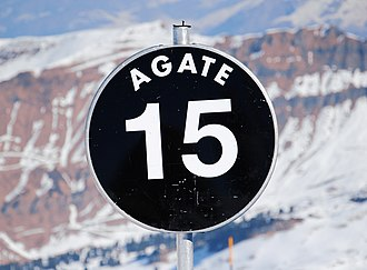 Piste - Sign for a black expert slope in Flaine, France