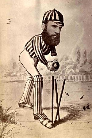 Jack Blackham - Caricature of Blackham created for the historic 1878 Australian tour of England
