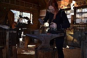 Warren Wilson College - A Member of Blacksmith Crew at Warren Wilson College