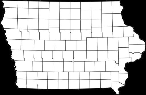 Blank Iowa county map