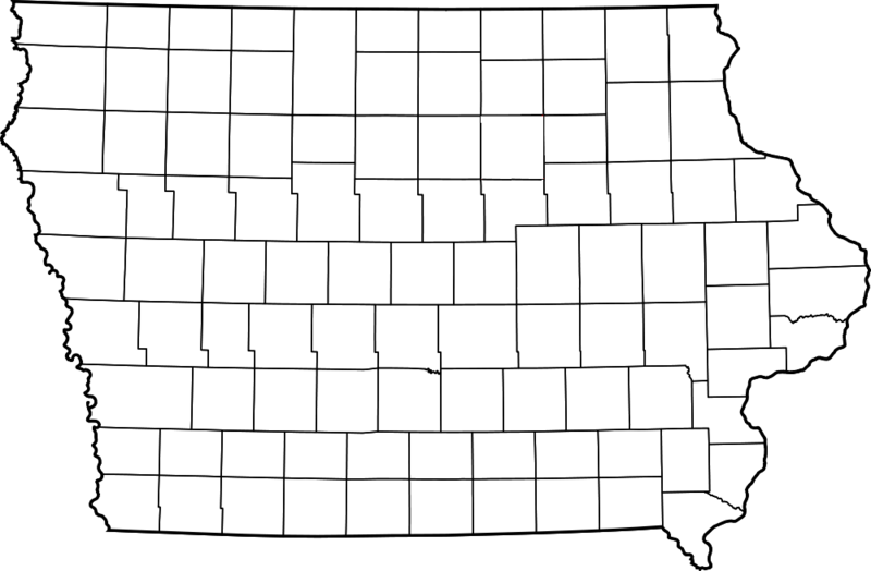 FileBlank Iowa County Mappng Wikimedia Commons - Iowa county map