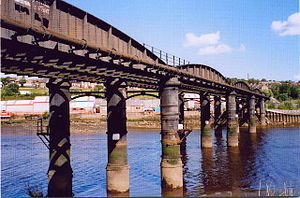 Blaydon-on-Tyne - Image: Blaydon Scotswood Railway Bridge