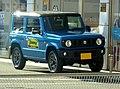 Blue Suzuki Jimny XC (3BA-JB64W-JXCR-J) front.jpg