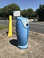 Blue fire hydrant - Reyrieux, Ain, France - 2.JPG
