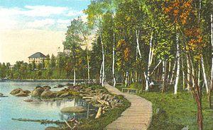 Rangeley, Maine - Image: Boardwalk to Rangeley Lake House, Rangeley, ME