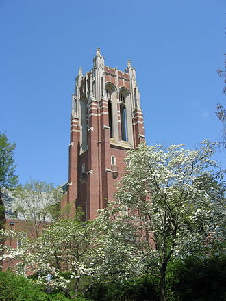 University of Richmond - Boatwright Memorial Library bell tower