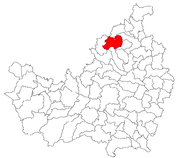 Location of the settlement on Cluj County map