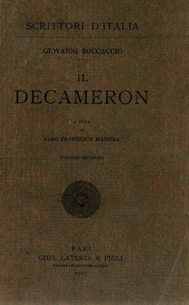 File:Boccaccio, Giovanni – Decameron, Vol. II, 1927 – BEIC 1761954.djvu