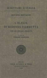 Giovanni Boccaccio: Elegia di Madonna Fiammetta