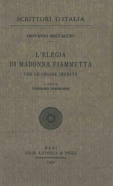 File:Boccaccio, Giovanni – Elegia di Madonna Fiammetta, 1939 – BEIC 1766425.djvu