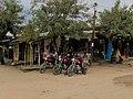 Boda Bodas awaiting customers in Bagamoyo, Tanzania.jpg