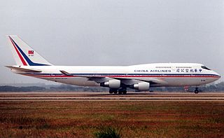 A Boeing 747-409 owned and operated by China Airlines (B-161).