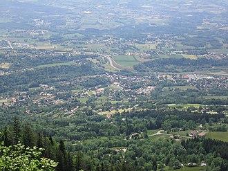 Bonne, Haute-Savoie - An aerial view of Bonne