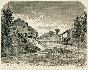 Hollis, Maine - Bonny Eagle Falls in 1869