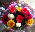 Bouquet of roses of various colours.jpg