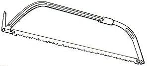 Bow saw - A modern bow saw