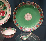Bowl, spoon, and dish for services made for Nawab Feizsalar of India, Chinese porcelain, 1824 - Winterthur Museum - DSC01502.JPG