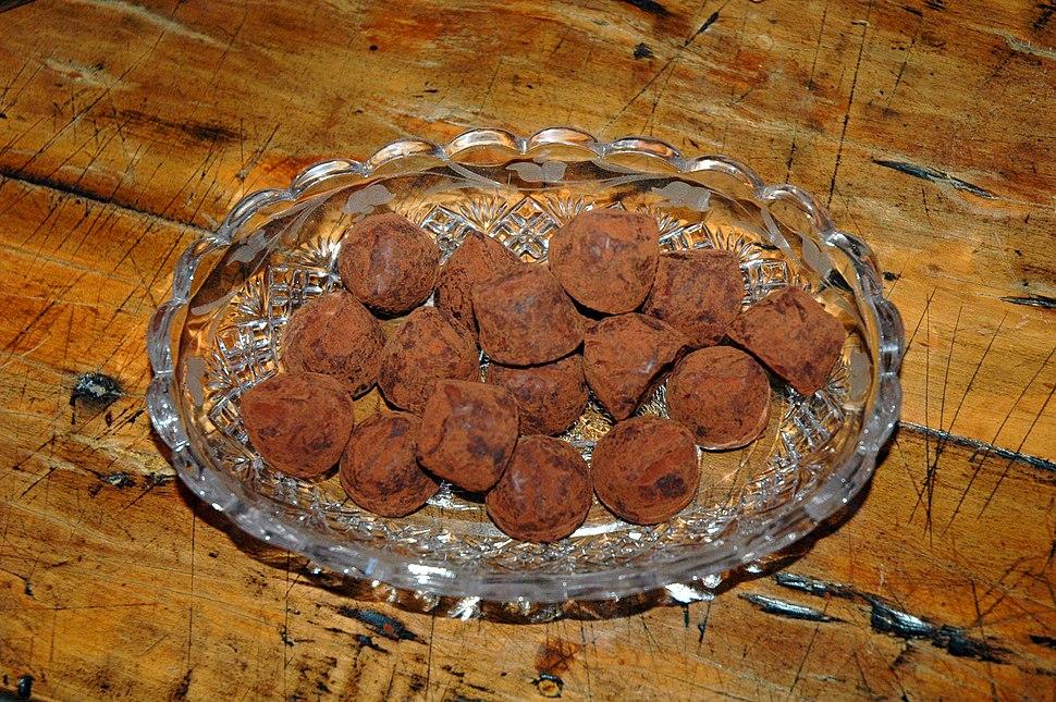 Bowl of truffles